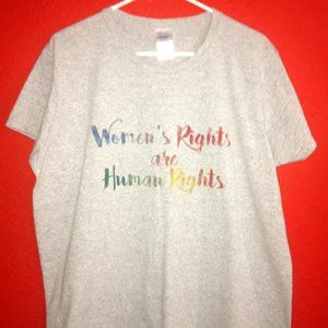 Women's Rights Are Human Rights XL Gray Tshirt